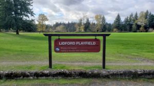 Lidford Playfield Sign