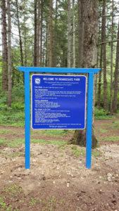 Orangegate Park Sign